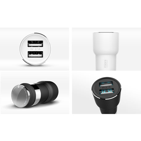 RoidMi 5 in 1 Music Bluetooth Car Charger 2S Smart Drive BFQ02RM Black
