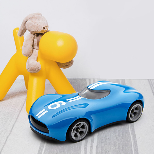Barbarian Doll Remote Control Sports Car Blue
