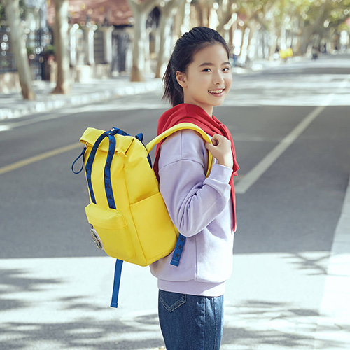 Xiaoyang curling fun casual backpack Pink
