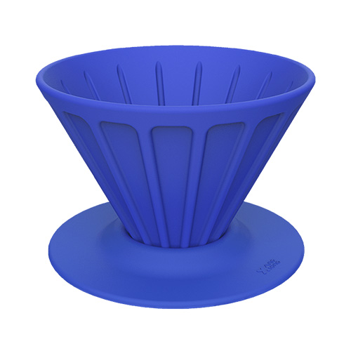 Xiong and Yang Coffee Portable Silicone Filter Cup Blue