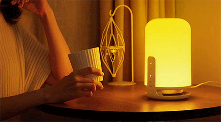 Innovative Light In Your House: Midian Zero-Blue Bedside Lamp