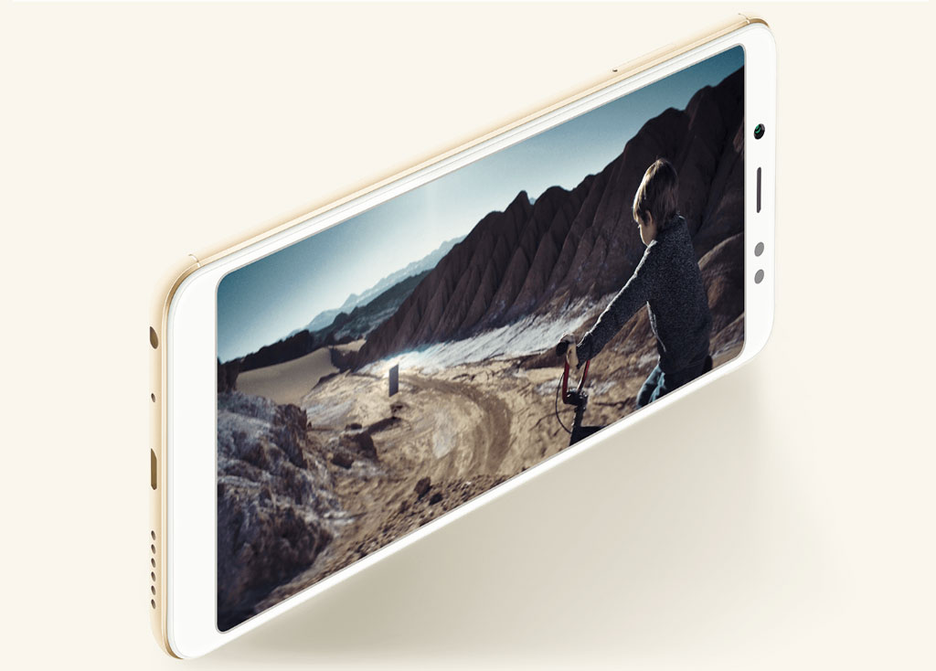 To compare with traditional 16:9 devices — the display of Redmi Note 5 Pro was increased by 12,5% — now it is 18:9.