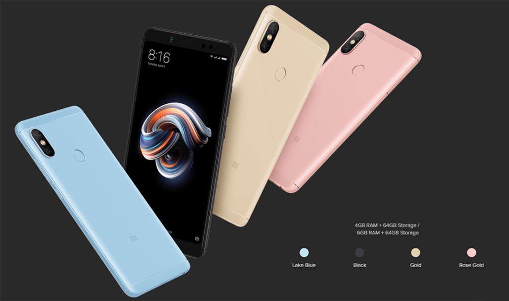 As usual for Xiaomi smartphones line the smartphone is available in four colors: Gold, Rose Gold, Black and Blue.