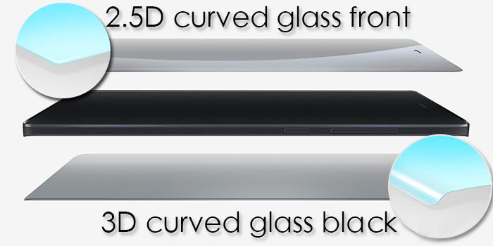 Xiaomi Mi Note with a curved display 2.5D + 3D on both sides of Gorilla Glass 3