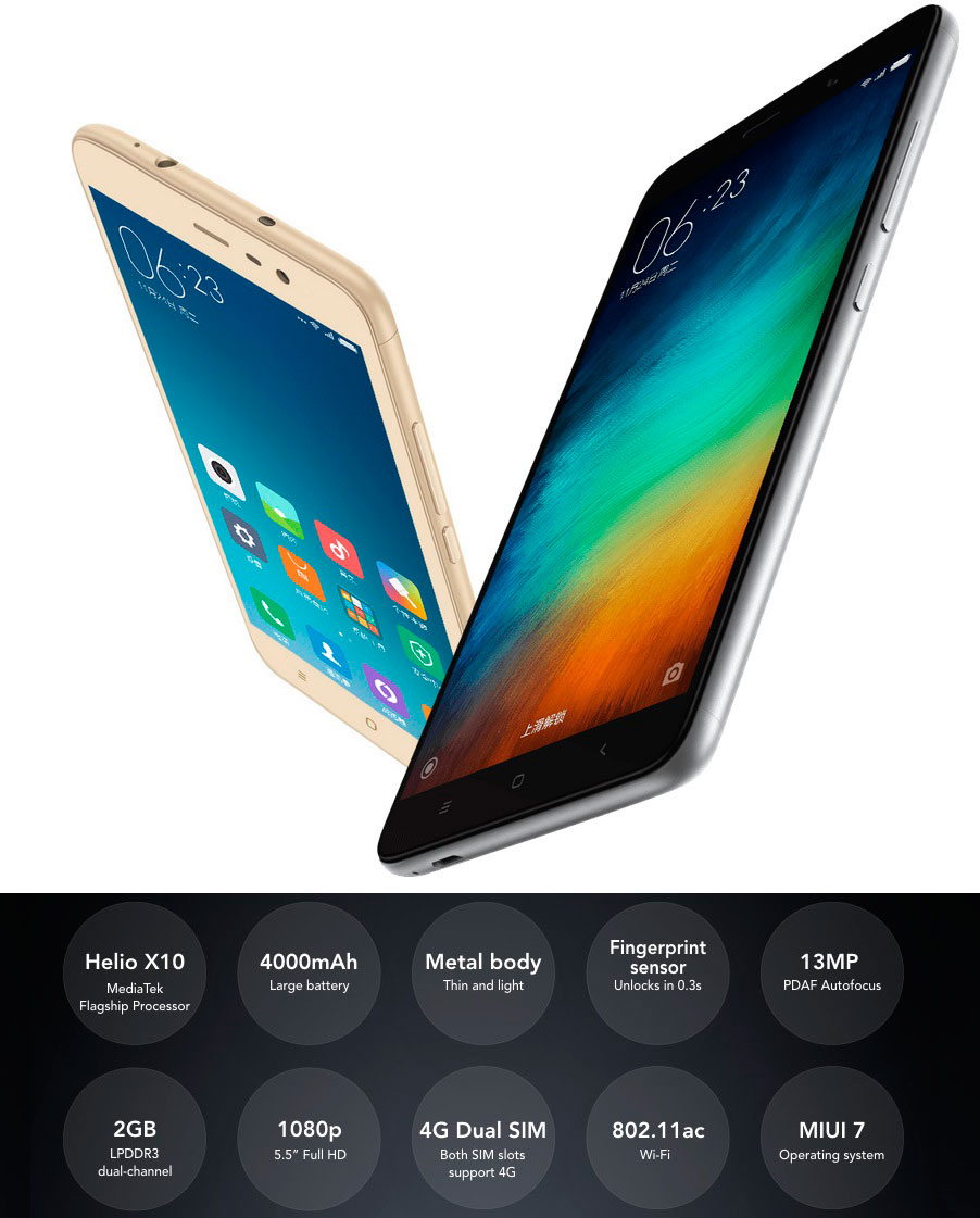 Xiaomi Redmi Note 3 3gb 32gb Dual Sim Gold Full Specifications 6 Photo