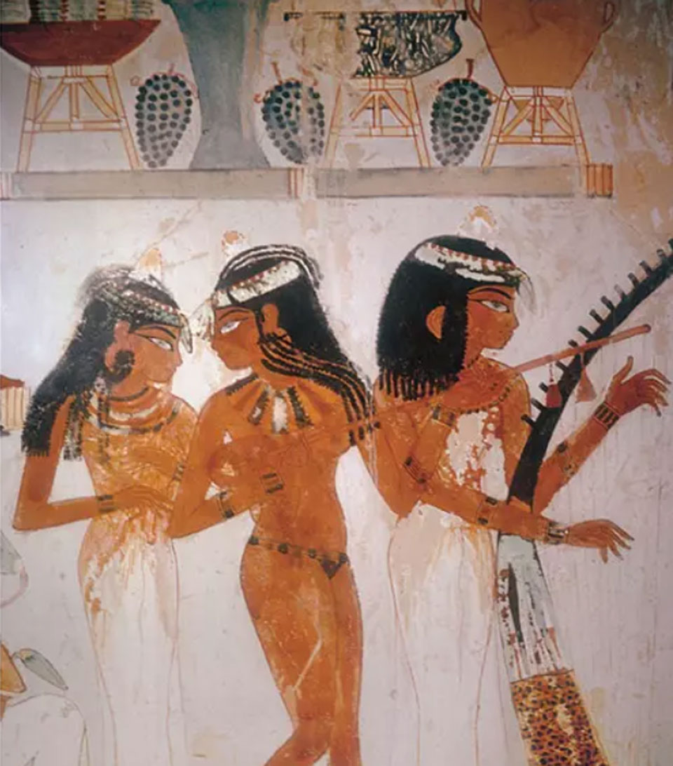 Ancient Egyptian mural
